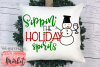 Sippin' The Holiday Spirits SVG DXF EPS PNG example image 3