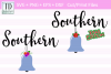 Southern Belle Cut or Print Files, For Everyday and Xmas example image 1