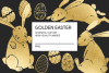 Gold Easter egg and Easter bunny clip art example image 1