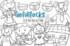 Goldilocks and the Three Bears Digital Stamps example image 1