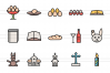 35 Easter Linear Multicolor Icons example image 2