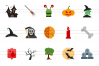 35 Halloween Flat Multicolor Icons example image 2