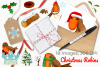 Christmas Robins Watercolor Clipart, Instant Download example image 2