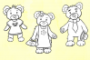 Goldilocks and the Three Bears Digital Stamps example image 3