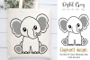 Elephant design SVG / DXF / EPS / PNG files example image 1