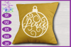 Christmas Word Ornaments SVG | Laser Cut Baubles SVG example image 6