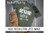 Kids Green Shirt Mock up Product Mock Up example image 1