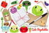 Cute Vegetables Clipart, Instant Download, Commercial Use example image 4
