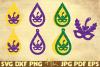 7 Masquerade earrings | Mardi Gras teardrop earrings example image 1