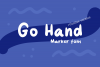 Go Hand Marker type font example image 1