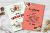 Double Sided Floral Wedding Invites Template example image 1