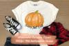 Happy Fall Y'all Watercolor Pumpkin Sublimation Clipart example image 1