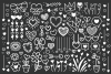 Cartoon Doodle Heart Clip Art Set example image 2