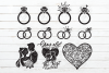 Wedding Day SVG Bundle #2 in SVG, DXF, PNG, EPS, JPEG example image 2