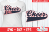 Cheer Template 0024, SVG Cut File example image 1