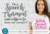 Speech therapist svg, Speech therapy svg, Speech pathologist example image 1