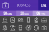 50 Business Line Inverted Icons example image 1