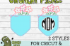 Pickle Pockets - Monogram Pocket Mom Flowers SVG Cut File example image 4