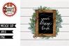 Single Black Wood Sign Mock Up   JPEG   PNG example image 1
