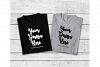 Two Black Gray Folded Tshirt Mock Up, Matching Tee Flat Lay example image 1