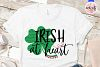 Irish at heart - St. Patrick's Day SVG EPS DXF PNG example image 2
