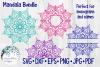 Huge Mandala Bundle | 36 SVG Cut Files example image 9