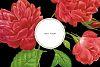 Black & Hot Pink Floral Tileable Digital Paper example image 4