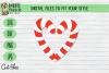 Candy Cane BUNDLE, Name, Heart, Cutie - Christmas, Xmas SVG example image 4