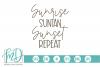 Summer - Beach - Vacation - Sunrise Suntan Sunset Repeat SVG example image 1