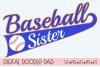 Baseball SVG Sister| Silhouette and Cricut Cut File example image 1