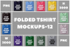 Folded Tshirt Mockups-12|PNG|3000x3000 example image 1