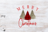 Merry Christmas Trees PNG example image 1