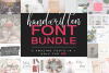 Handwritten Font Bundle 5 in 1 example image 1
