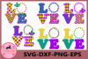 Mardi Gras Svg, Monogram Svg, Love Svg, Fleur de Lis Svg example image 1