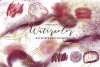 Watercolor Burgundy and Gold Glitter Backgrounds example image 1