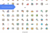 158 Shopping & E-Commerce Filled Line Icons example image 2