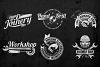 Workshop Emblems On Dark example image 3