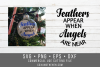 Feathers Appear when Angels are Near SVG - memorial ornament example image 1