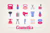Flat Cosmetic Icons example image 1