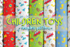 Cute baby toys seamless pattern example image 1