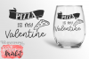 Pizza Is My Valentine SVG DXF EPS PNG example image 1