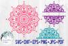 Mandala SVG Bundle   Half Mandala  Personalized Name Mandala example image 1