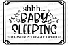 Shhh... Baby Sleeping Please Don't Ring Doorbell Cut File example image 2