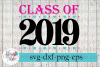 Class of 2019 Heart Senior Graduation Cap SVG Cutting Files example image 1