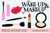 Wake Up & Makeup, Glamorous Cricut & Silhouette Cut Files example image 1