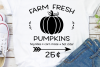 Farm Fresh Pumpkins Svg, Pumpkin Patch Sign Svg example image 1