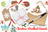 Christmas Woodland Animals Clipart, Instant Download example image 4