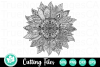 Sunflower - A Zentangle SVG Cut File example image 2