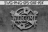 Welcome Sign Papercut Template, Beach House Decor, SVG, DXF example image 2