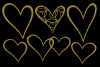 Glittery Gold Hearts example image 5